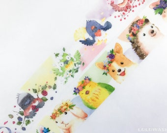 Samples - washi tape samples Roundtop RT limited edition Hank Ours birds / spring wreath 60cm <YX116>