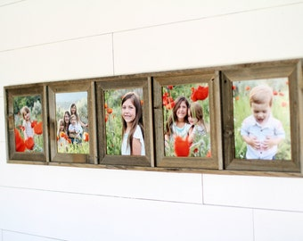 Barnwood Collage Frame with 5 Openings
