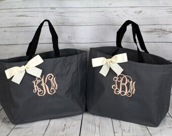 Personalized Bridesmaid Gift Tote Bags Monogrammed Tote, Bridesmaids Tote, Personalized Tote