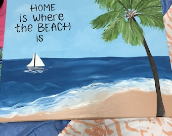 Kitchen Beach Painting