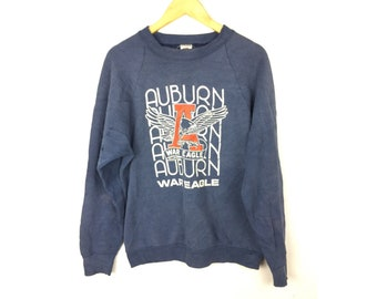 War Eagle Auburn by Fruit of The Loom Vintage Sweatshirt Made in USA Large Size