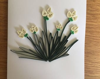White flowers card