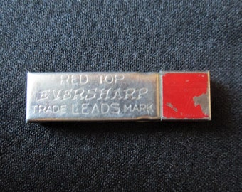 1950s Red Top Eversharp Pencil Lead Container Vintage Empty