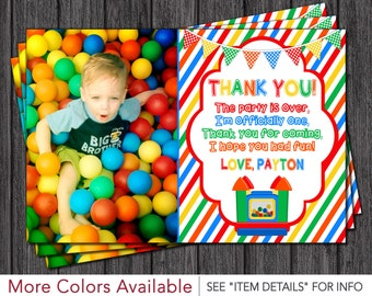Bounce House Thank You Card - Personalized Bouncy House Thank You Cards