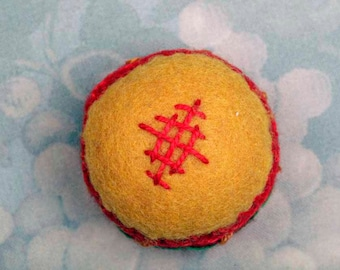 Red and Gold Pin Cushion