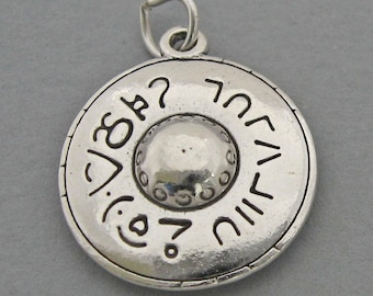 Sterling Silver 925 Charm Pendant 3d UFO FLYING SAUCER 1893