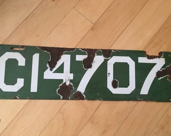 1912 Connecticut Porcelain License Plate