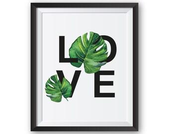 Tropical Leaf Print, Tropical Print, Leaf Print, Tropical Decor, Tropical Wall Art, Tropical Wall Decor, Leaf Wall Art, Leaf Art Print