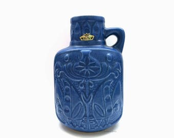 West German Pottery Vase / Bodo Mans