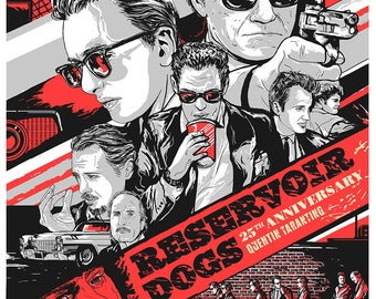 Reservoir Dogs 25th Anniversary limited edition screen print by artist Japo Yamasato