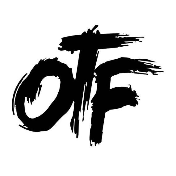 only the family otf vinyl decal sticker for cartruck window