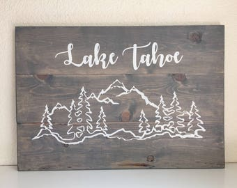 Wood Sign • Lake Tahoe