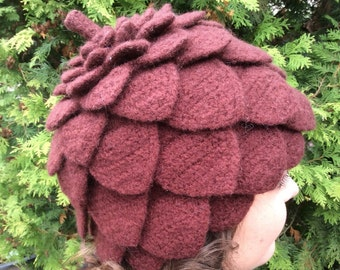 Wool Pinecone Hat