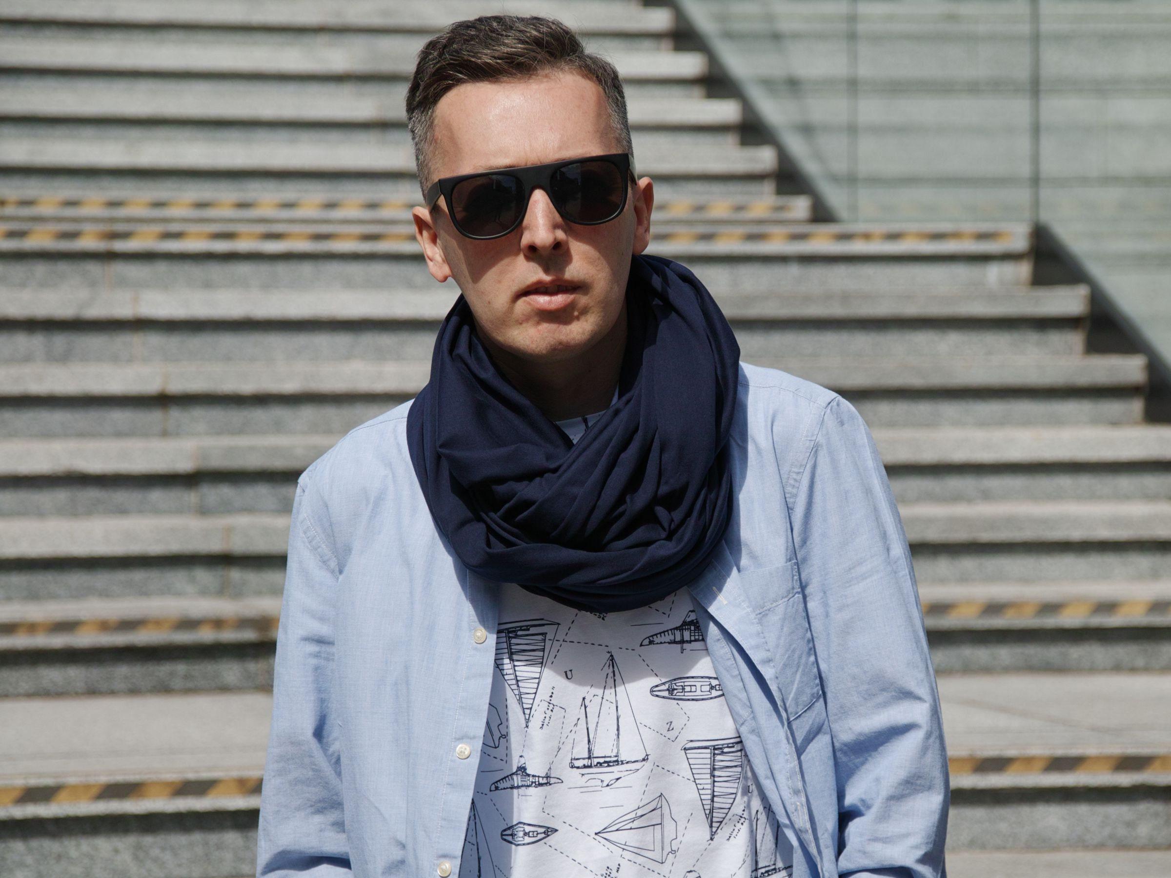nomad infinity mens loop cowl textile guys circle scarf him link for men black i
