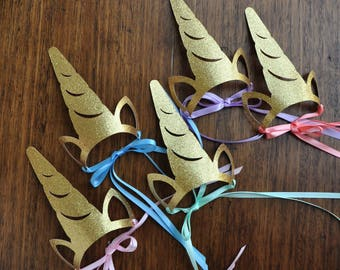 Unicorn Headband. Unicorn Crown Horn. Handcrafted in 2-5 Business Days. Unicorn Party Favors for Rainbow Party. Set of 5 or More.
