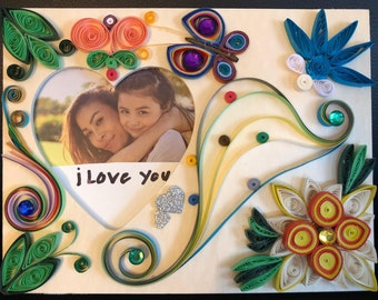 quilling decorative picture frame