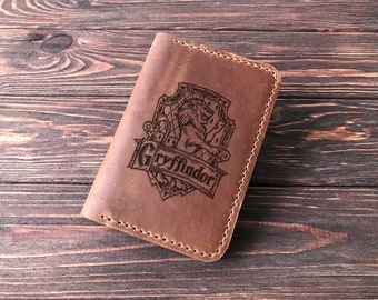 Gryffindor Passport Wallet Personalized Leather Passport Holder Harry Potter Personalized Passport Cover Harry Potter Case Mens Gifts k38