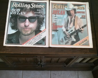 TWO Rolling Stone Magazine - January 26 1978 # 257 November 16, 1978 - # 278 - BOB DYLAN Cover