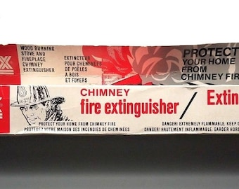 Vintage Chimfex brand chimney fire extinguisher Brand New In original box