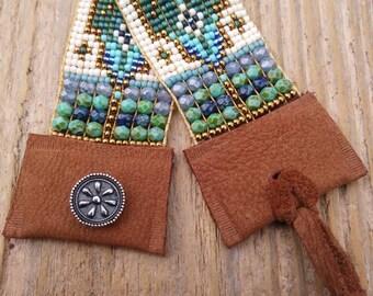 Bead loom bracelet, boho bead loom bracelet, bead woven bracelet, boho bead woven bracelet, Southwest bracelet, bohemian bracelet, Native Am