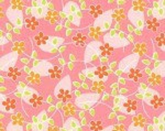 Michael Miller Floating Blossoms Pink fabric - 1 yard