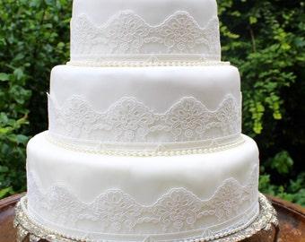 Gatsby Ivory Wedding Cake Topper. Art Deco Cake Topper. Vintage Wedding Cake. 1920s Wedding. Gatsby Wedding Decor. Wedding Cake Trim.