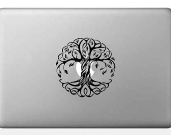 Tree of Life Vinyl Decal, Sacred Tree Sticker, Macbook decal, Laptop decal, Spiritual Car decal, Yoga sticker, Ipad decal, Mandala sticker