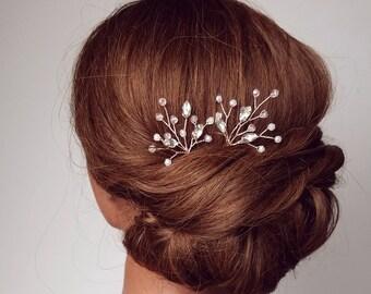 Bridal Hair Pins, Rose Gold Hair Piece, Bridal Hair Accessory, Rose Gold Head Piece, Rose Gold Hair Vine, Leaf Hair Pins, Wedding Hair Comb