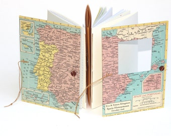 Spain Travel Journal - Notebook with Pockets and Envelopes - Personalized for You