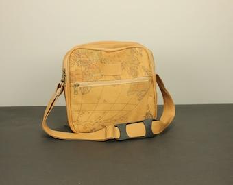 Vintage world map etsy world map print lunch box picnic bag purse vegan boho traveler cognac brown alviero martini style gumiabroncs Images