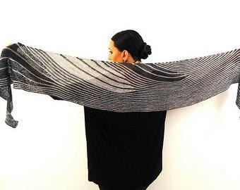 CONDUIT Knitting Pattern PDF Fingering Weight Shawl