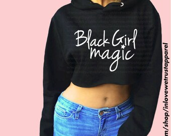 BLACK GIRL MAGIC Cropped Hoodie 3