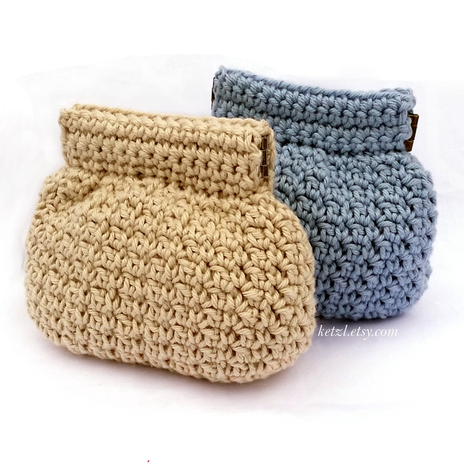 Purse Crochet Pattern Coin Purse Pouch Small Squeeze Frame