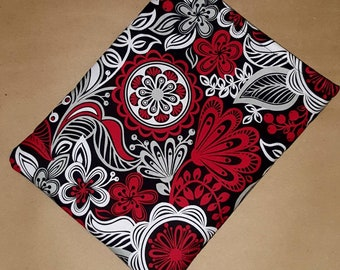 XL Book Sleeve - Red Flowers