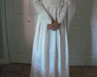 Vintage satin wedding gown from the 50's.  New Price