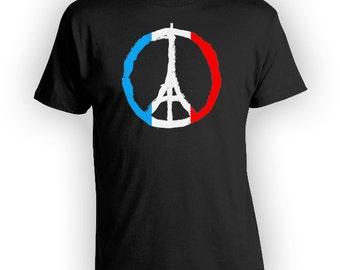 Peace For Paris #PrayForParis Shirt #PrayersForParis Peace French T Shirt Peace Symbol Eiffel Tower Tshirt Freedom Shirt  BBW-205