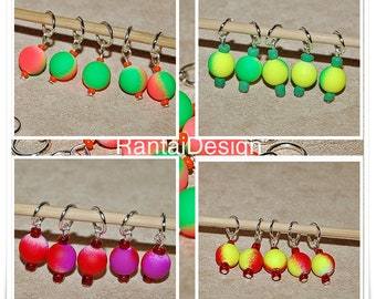 Stitch markers for knitting colors of summer