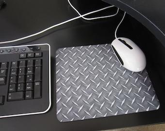 Mouse pad Diamond plate metal office decor MP-009