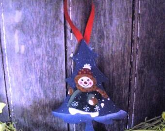 Snowman Tree Christmas Ornament