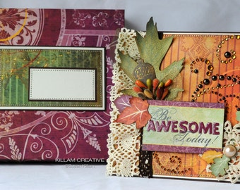 Be Awesome Today!, Greeting Card, 3D, Keepsake Card