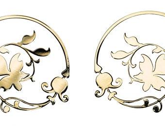 Flower Romance Spiral Earrings