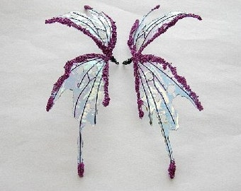 OOAK Fairy Wings-Iridescent-Pixie Fairy  Wings-Doll and Bear sized (Made to Order by Request)