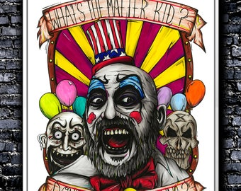 Don't You Like Clowns? - A5/A4/A3 Signed Art Print (Inspired by Captain Spaulding)