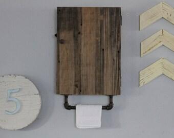 Bathroom Organization, Reclaimed Wood Shelves, Bathroom Cabinet, Industrial Shelf, Rustic Medicine Cabinet, Bathroom Wall Cabinet