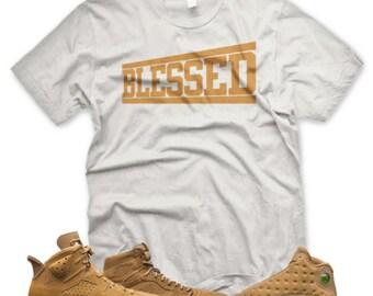 8900fd9eabb2d1 BLESSED T Shirt inspired by Jordan Golden Harvest OG Wheat Elemental Gold 6  1 13 ...