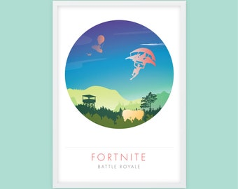 FORTNITE Battle Royale, Game Poster Print A3, Video Game Poster, Wall Art, Minimalist Print,