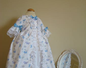 Dress historic baby 18th century style Marie-Antoinette 9 months to 3 years