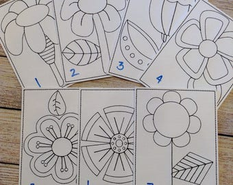 Flowers,  Reusable, Re-usable, Vinyl, Colouring, Sheets, Washable, Markers, Pages, Green, Children, Playtime, Party Favours, Quiet Time