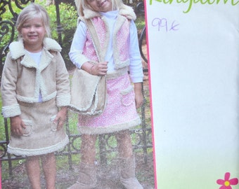 Girls' Jacket and Skirt Sewing Pattern Simplicity 1950 Girls' Jacket Skirt Bag  Uncut Complete Size 3-8