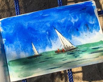 Original Watercolor Painting  | Landscape painting |  Watercolor painting |Original painting | Original art | Wall decor | Art | Watercolor